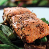 Grilled Salmon with Balsamic and Rosemary Marinade