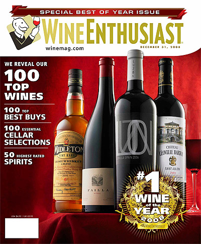 Wine Enthusiast magazine cover