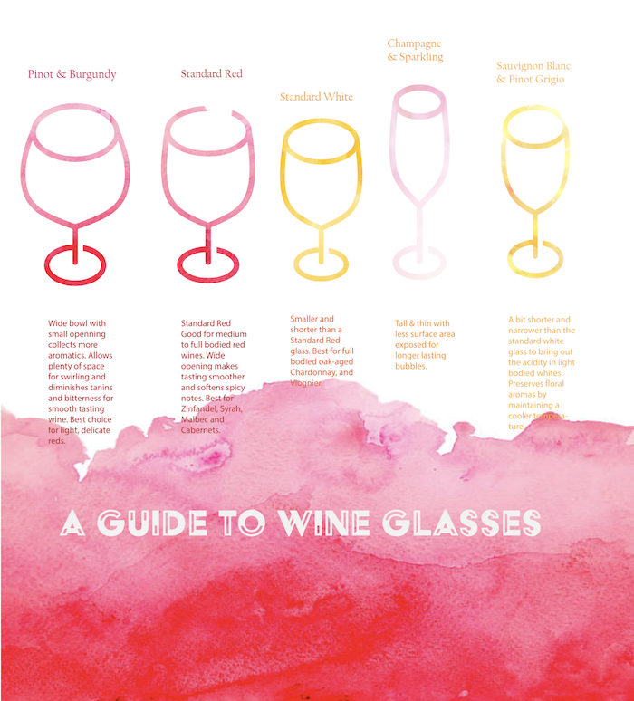 A guide to wine glasses infographic
