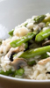 Risotto with Rock Shrimp, Asparagus and Mushrooms