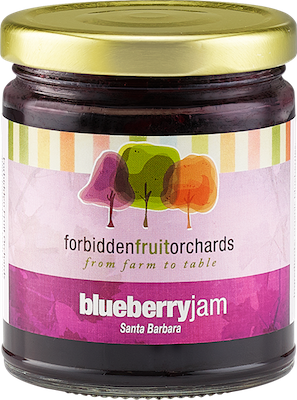Bottle of Blueberry Jam   Forbidden Fruit Orchards