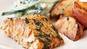 Smoked Salmon with Mustard and Dill Sauce