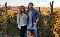 Inspired to start their own winery, Brice and Sarah now create their own 'Liquid Luck'