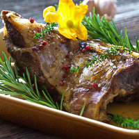 Roasted Lamb with Juniper Berries