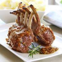 Marinated Rack of Lamb with Red Wine