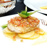 Chilean Sea Bass with Grilling Salsa