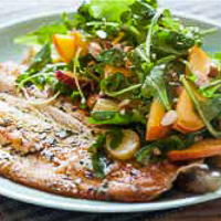 Pan Fried Trout with Arugula Salad