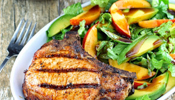 Pork Chops with Nectarine and Arugula Salad