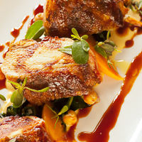 Roasted Chicken with Pinot Noir Sauce