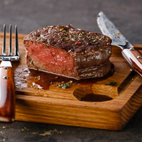 Filet Mignon with Blue Cheese and Cabernet Sauce