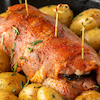 Pork Tenderloin Stuffed with Apples & Dried Fruit