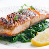 Grilled Salmon with Garlic & Herbs