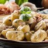 Gnocchi with Blue Cheese & Frizzled Prosciutto