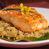 Pan-Seared Salmon with Herbed Brown Rice