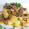 Pappardelle Pasta with Rosemary Portobello Mushroom Sauce