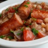 Pork Sausages with Cannellini