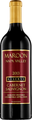 Bottle of Maroon 2013 Cabernet Sauvignon Reserve