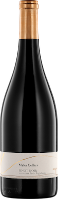 Bottle of Myka Cellars 2016 Pinot Noir