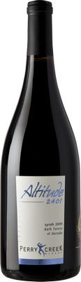 Bottle of Perry Creek 2009 Syrah Altitude 2401 - Dark Forest