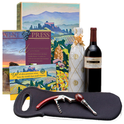 Five Wine Gifts in One! A Tote, two Wines, Opener & Stopper Set