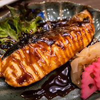 Grilled Salmon with Ginger-Soy Sauce