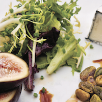 Mixed Greens and Goat Cheese Salad with Fig Vinaigrette