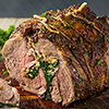 Stuffed Leg of Lamb with Prunes and Almonds