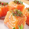 Salmon Cubes with Oyster Sauce